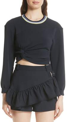 3.1 Phillip Lim Twisted Crop Top
