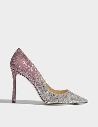Jimmy Choo Romy 100 degrade glitter pumps