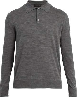 Prada Long sleeve cotton polo shirt