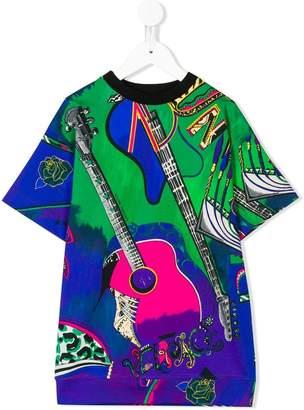 Versace musical print sweat dress
