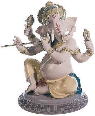 Lladro Bansuri Ganesha Porcelain Figurine