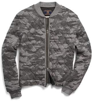 Todd Snyder + Champion Quilted Bomber in Camo