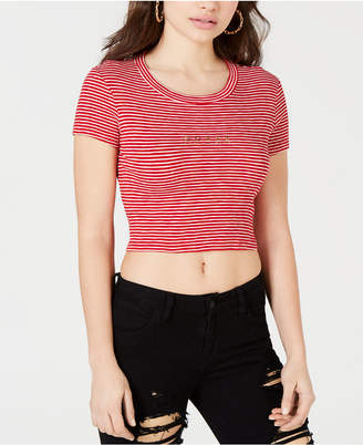 GUESS Striped Cropped T-Shirt