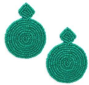 Kenneth Jay Lane Circle Drop Bead Earrings