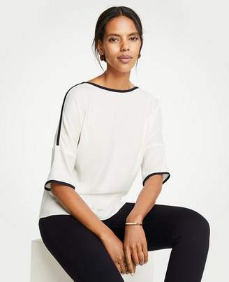 Ann Taylor Contrast Tipped Tee