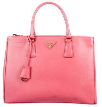 Pre Owned At Therealreal Prada Medium Saffiano Lux Galleria Double Zip Tote