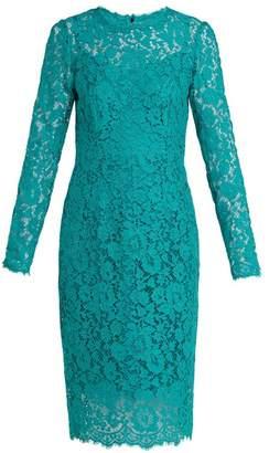 Dolce & Gabbana Cordonetto Lace Dress - Womens - Blue