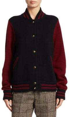 Marc Jacobs Wool & Cashmere Varsity Jacket