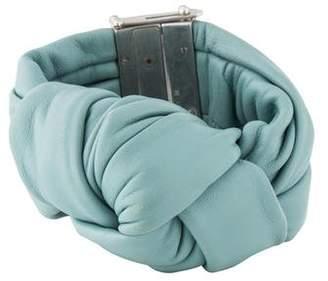Celine Leather Knot Wrap Bracelet