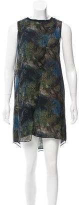 Theyskens' Theory Printed Silk Dress