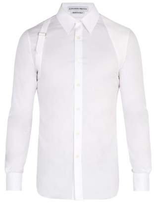 Alexander McQueen Harness Cotton Blend Shirt - Mens - White