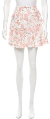 CacharelCacharel Floral Print Mini Skirt