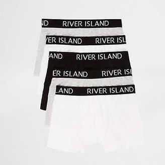 River Island Boys grey RI boxers multipack