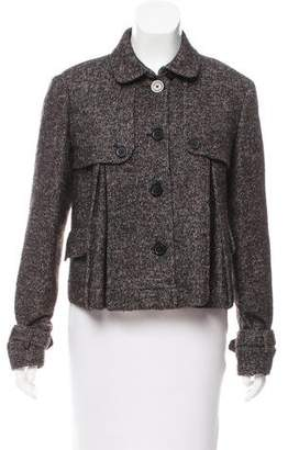 MICHAEL Michael Kors Long Sleeve Wool Jacket