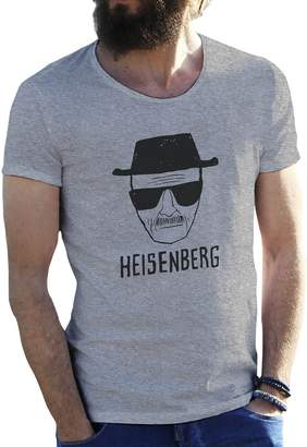 Walter Friendly Bees Heisenberg in Black White Breaking Bad Grey Mens T-Shirt