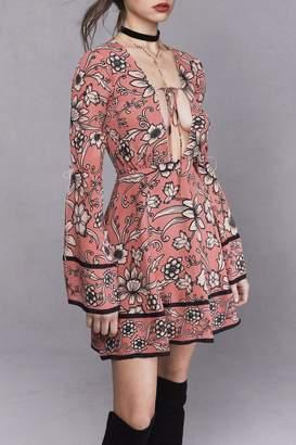 For Love & Lemons Ayla Plunging Dress