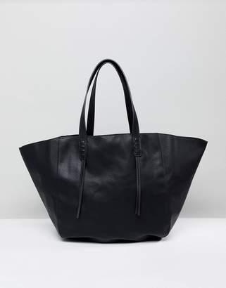 Pull&Bear Tote Bag In Black
