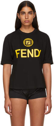 Fendi Black Sequin and Crystal T-Shirt