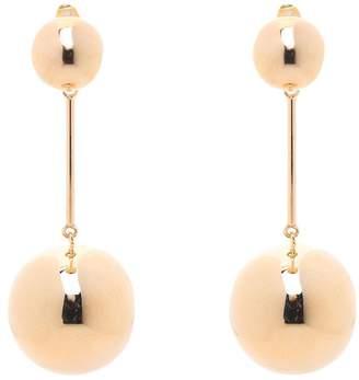 J.W.Anderson Double-sphere Gold-plated Drop Earrings
