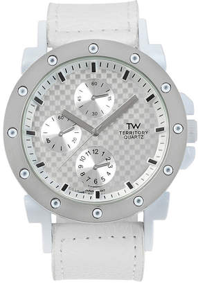 TERRITORY Territory Mens Leather-Look Strap Watch
