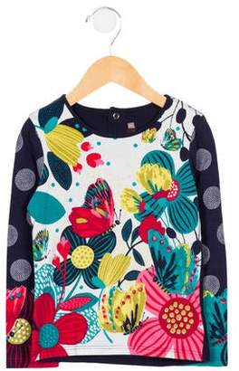Catimini Girls' Printed Long Sleeve Top