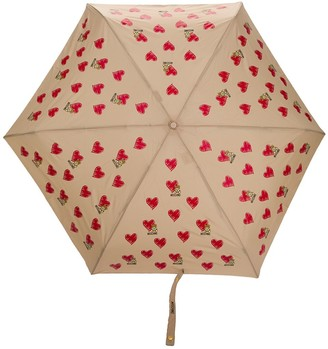 Moschino heart pattern umbrella