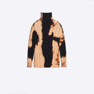 Balenciaga Cotton knit bleach effect sweater