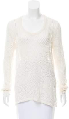 Thakoon Open Knit Linen Sweater