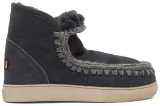 Mou Navy Mini Eskimo Sneaker Boots