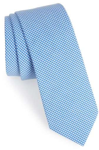 Sydney Check Cotton Skinny Tie
