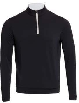 Peter Millar Men's Perth Stretch Pullover - Black - Size M
