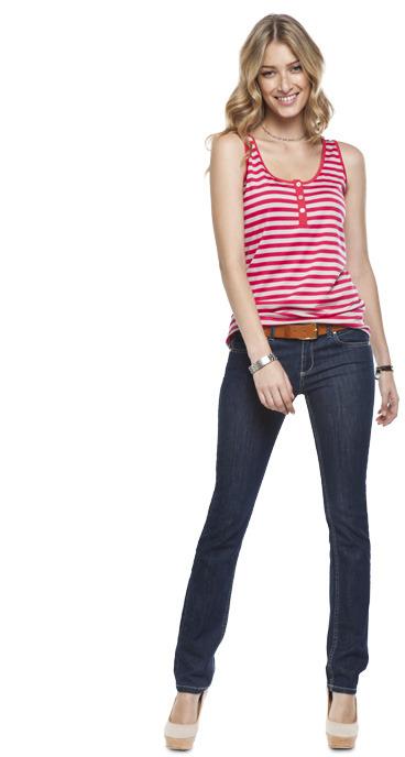 Stripe Button Vest
