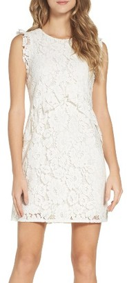 Women's Charles Henry Ruffle Lace Dress $111 thestylecure.com