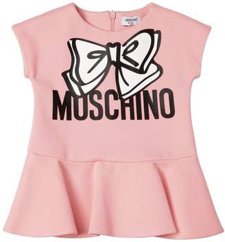 Moschino Bow Printed Milano Jersey Dress