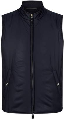 Canali Quilted Funnel Neck Gilet