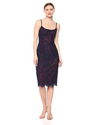 BCBGMAXAZRIA Azria Women's Strappy Lace Sheath Dress,2