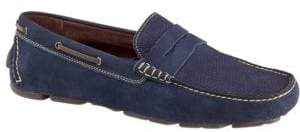 Johnston & Murphy Gibson Perforated Leather Penny Loafers