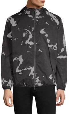 Black Barrett Camouflage Windbreaker Jacket