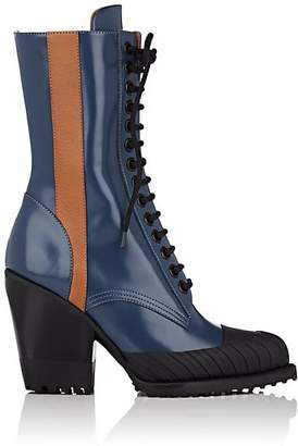 Chloé Women's Rylee Spazzolato Leather Ankle Boots - Blue