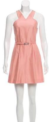 Alberta Ferretti Silk-Blend Belted Dress