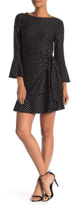 ECI 3\u002F4 Bell Sleeve Wrap Dress