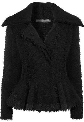 Alexander McQueen - Bouclé Peplum Jacket - Black $2,545 thestylecure.com