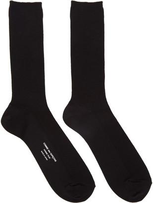 Comme des Garçons Homme Plus Black Basic Rib Socks $40 thestylecure.com