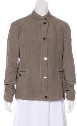 Armani Collezioni Linen Zip-Up Jacket