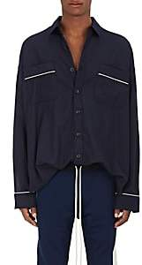 Fear Of God Men's Cotton Twill Pajama Shirt-Navy Size L