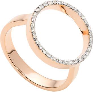 Monica Vinader Naida Circle Open 18ct yellow-gold vermeil and diamond ring