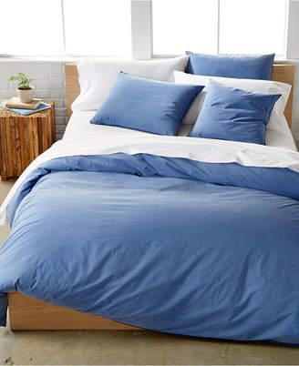 Calvin Klein Last Act! Washed Essentials Color Wash King Duvet Cover Set Bedding