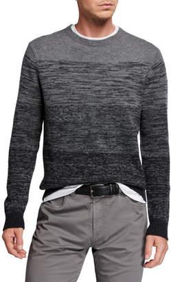 Neiman Marcus Men's 5-Panel Ombre Wool-Cashmere Sweater