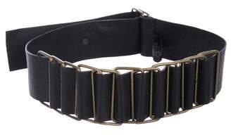 Yigal Azrouel Leather Waist belt