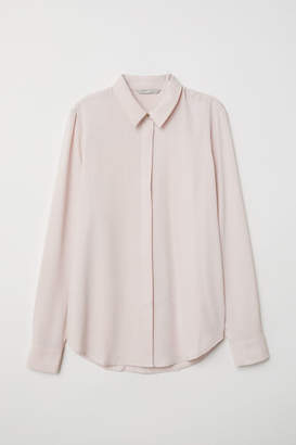 H&M Long-sleeved Blouse - Pink